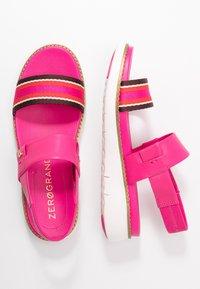 Cole Haan - GLOBAL DOUBLE BAND  - Platform sandals - fuschia/purple/multicolor - 3