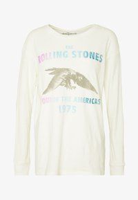 American Eagle - BEACH LONG SLEEVE TEE ROLLING STONES - Long sleeved top - natural white - 4