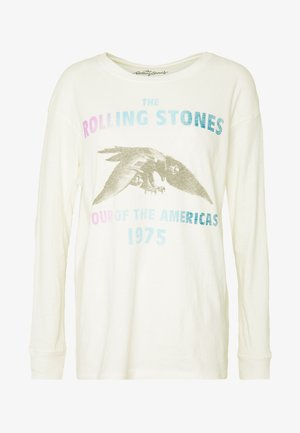 BEACH LONG SLEEVE TEE ROLLING STONES - Maglietta a manica lunga - natural white