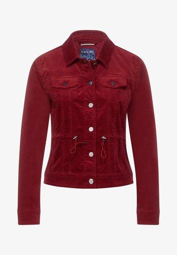 Denim jacket - rot