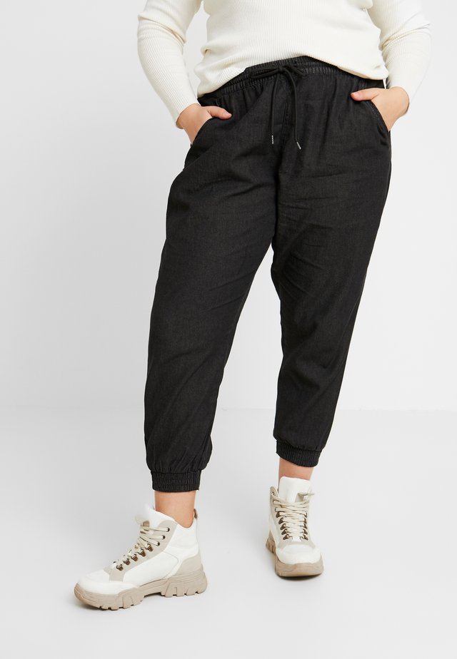 SHIRRED PANT - Trousers - black wash