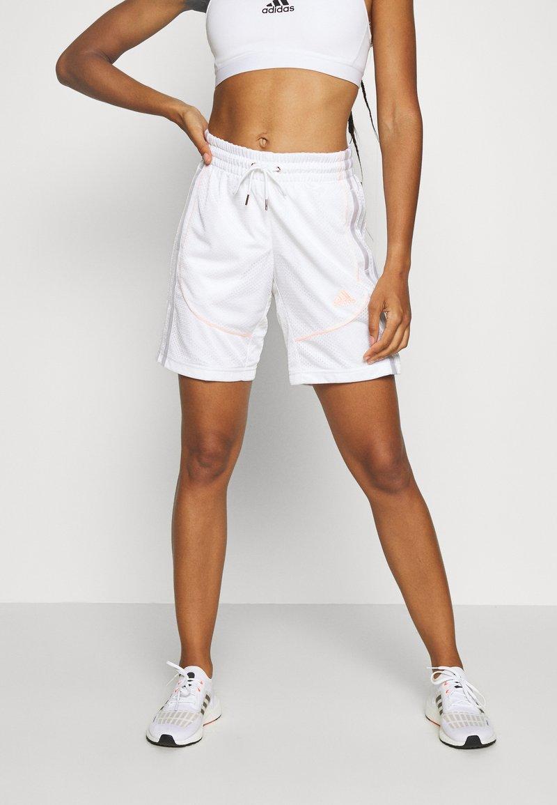 adidas Performance - PRIMEGREEN BASKETBALL SHORTS - Krótkie spodenki sportowe - white