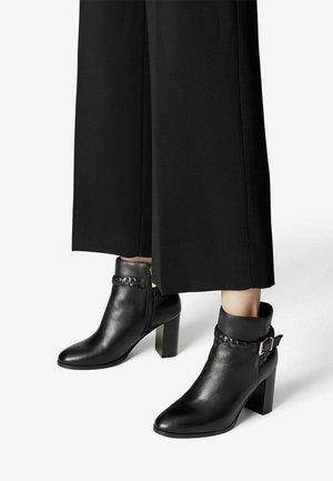 Cowboy-/Bikerlaarsjes - black leather