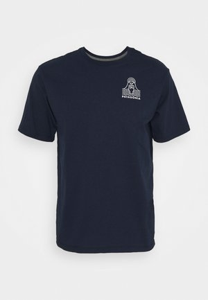 PEAK PROTECTOR BADGE TEE - T-shirt imprimé - new navy