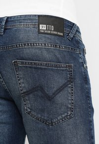 TOM TAILOR DENIM - SLIM AEDAN - Jean slim - mid stone wash denim - 5