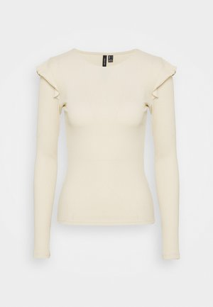 VMAVA FRILLS - Long sleeved top - birch