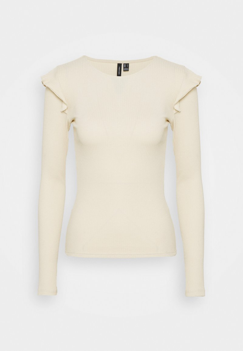 Vero Moda Tall - VMAVA FRILLS - Long sleeved top - birch
