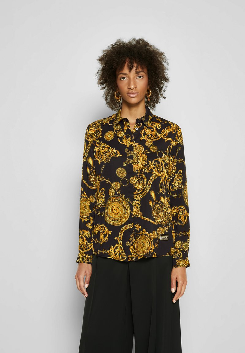 Versace Jeans Couture - SHIRT - Overhemdblouse - black/gold