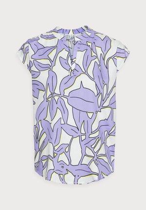 Print T-shirt - white/lavender