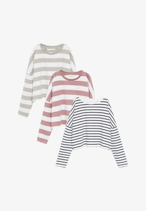 3 PACK - Long sleeved top - gebroken wit