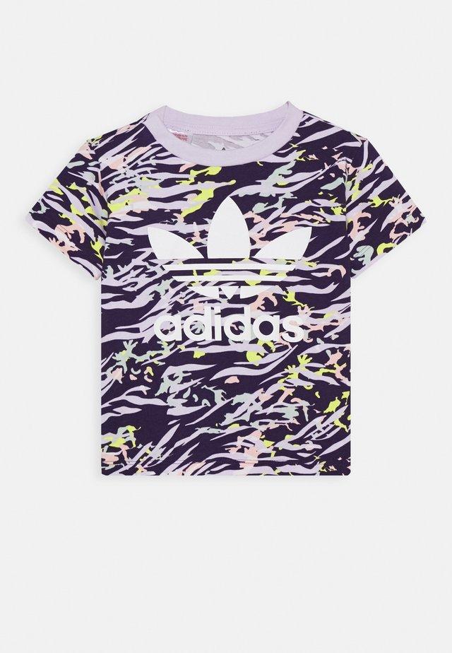 TEE - T-shirt imprimé - depp purple/multicolor