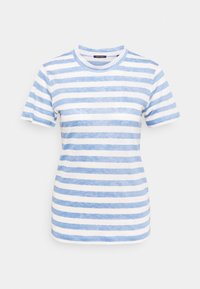 Marc O'Polo - SHORT SLEEVE ROUND NECK SLIM FIT STRIPED - T-shirts med print - mutli/washed cornflower - 0