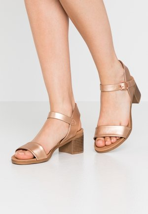 PLATYPUS BLOC HEEL  - Sandals - rose gold