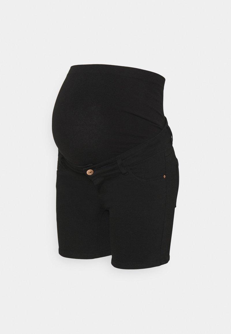 Pieces Maternity - PCMDELLA  - Denim shorts - black denim