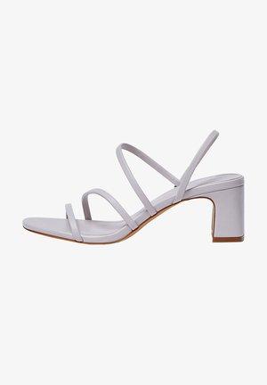 MIT ABSATZ UND RIEMCHEN - Sandals - mauve