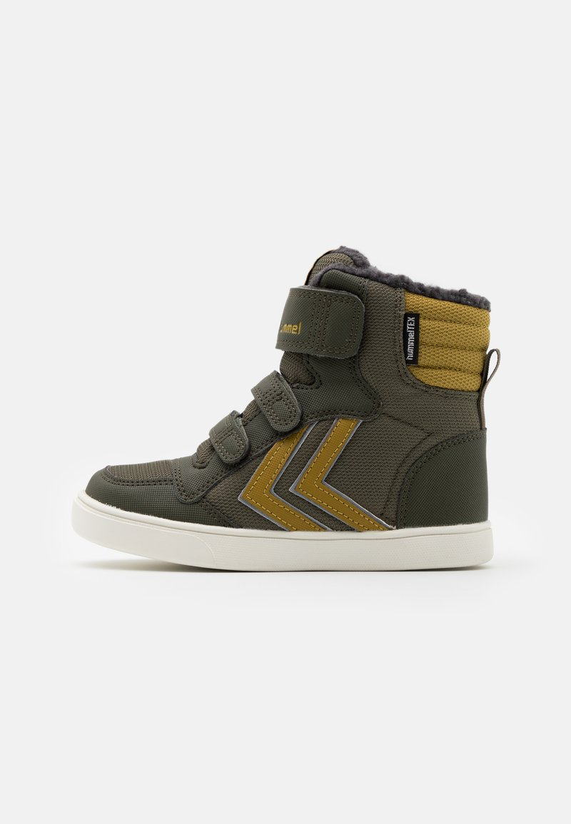 Hummel - STADIL SUPER POLY MID JR - High-top trainers - olive night
