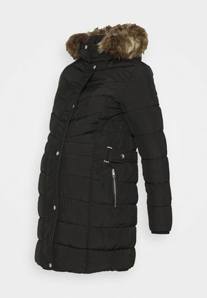 LONGLINE BELT TRIM PUFFER - Winter coat - black