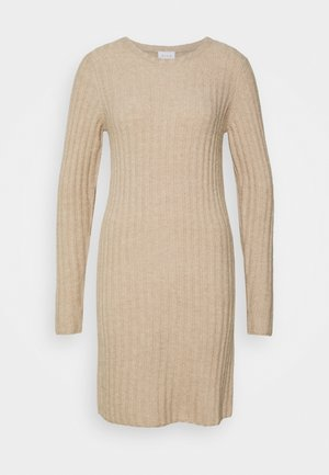 VINIKKI O-NECK DRESS - Jumper dress - natural melange/melange