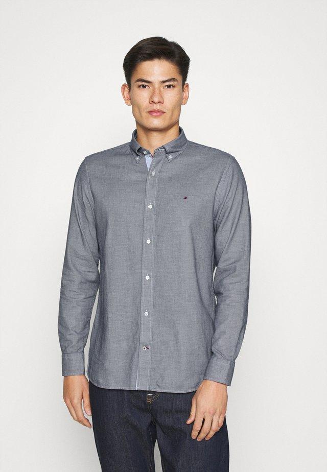 MELANGE DOBBY - Shirt - carbon navy