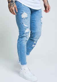 SIKSILK - RAW CUFF CROPPED - Jeans Skinny Fit - blue - 0