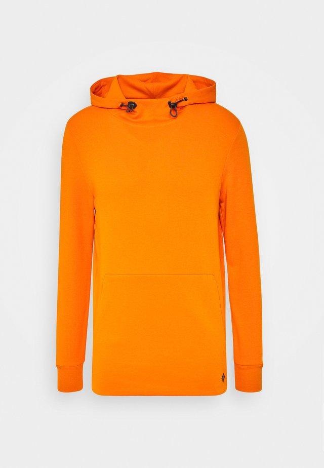 HOODY WITH SPECIAL FABRIC - Hoodie - goldfish orange