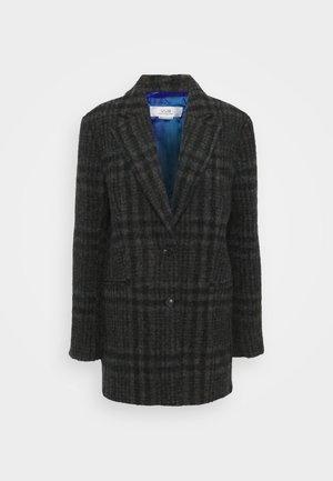 JUMBO CHECK COAT - Zimní kabát - brown/blue
