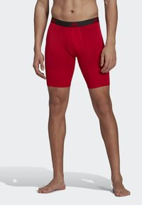 adidas Performance - BRIEF 2 PACK - Pants - black/scarlet - 0