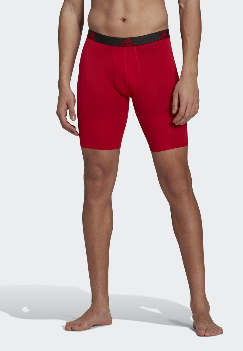 adidas Performance - BRIEF 2 PACK - Pants - black/scarlet