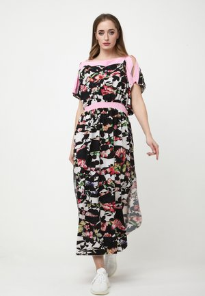 TSURUMI - Maxi dress - weiß, schwarz