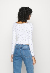 BDG Urban Outfitters - POINTELLE DITSY - Long sleeved top - white