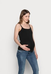 Anna Field MAMA - 2PACK NURSING FUNCTION cami - Topper - black/white - 3