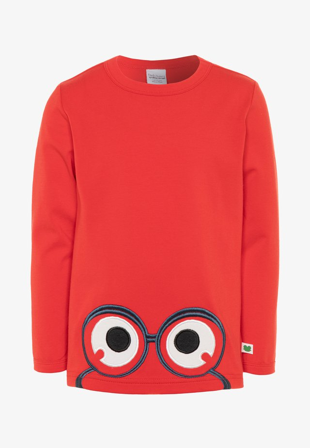 ALFA PEEP  - Long sleeved top - traffic red
