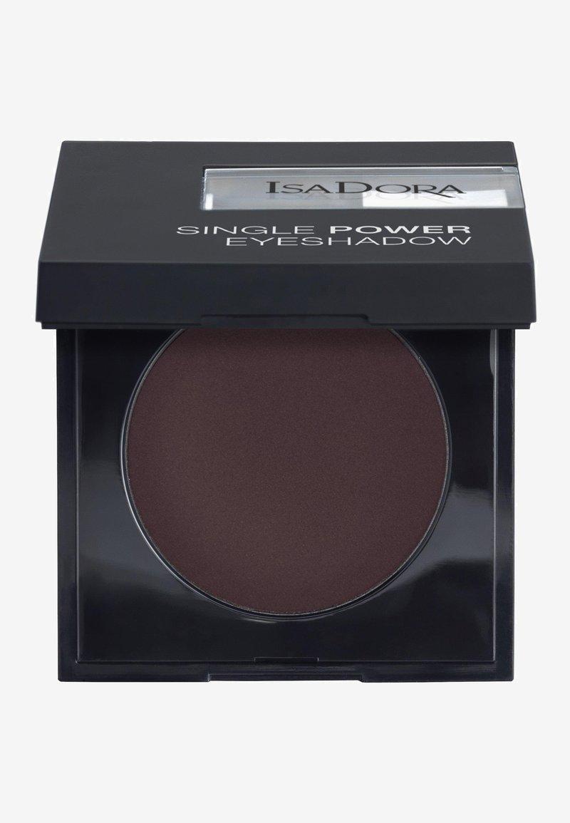 IsaDora - SINGLE POWER EYESHADOW - Eye shadow - black plum