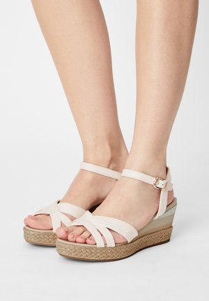 GRADIENT MID - Platform sandals - ecru
