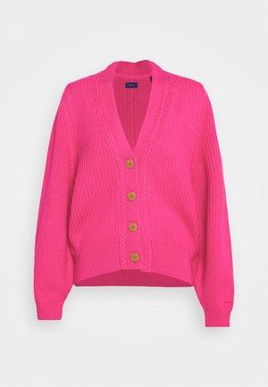 CARDIGAN - Cardigan - rich pink