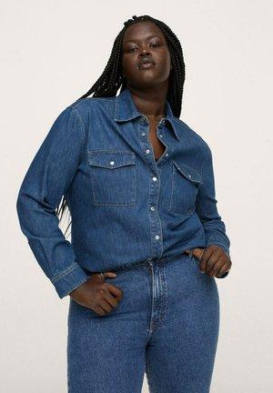 JULIE - Button-down blouse - azul oscuro