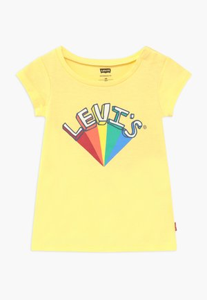 GRAPHIC - T-shirt med print - pale banana