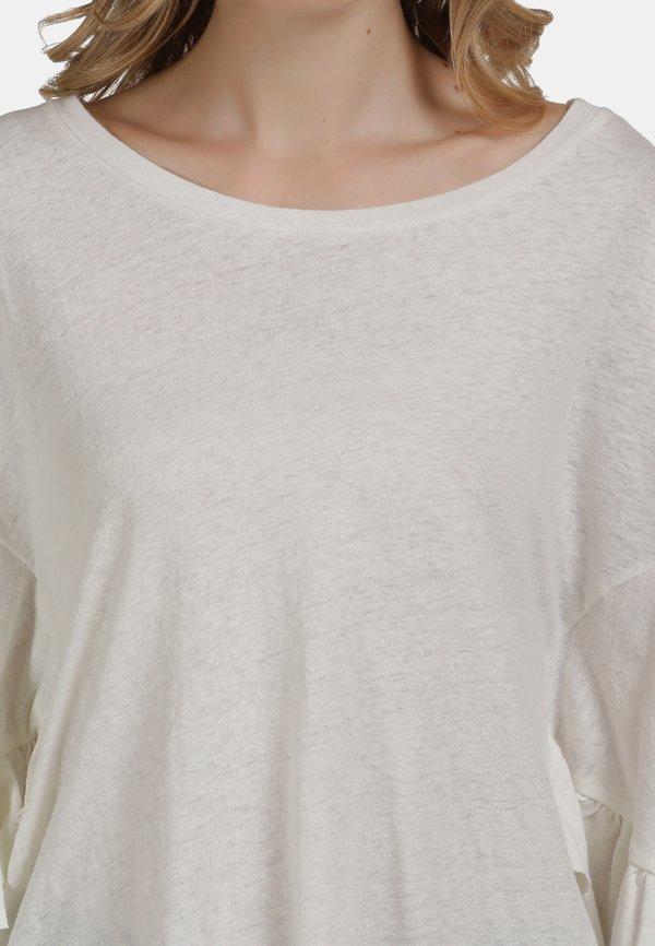 DreiMaster Bluzka z długim rękawem - wollweiss/biały EGRT