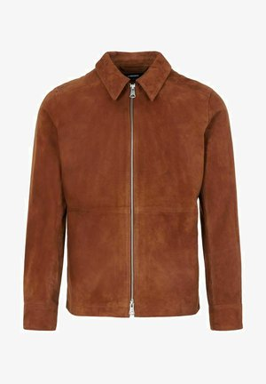 JONAH - Leather jacket - brown