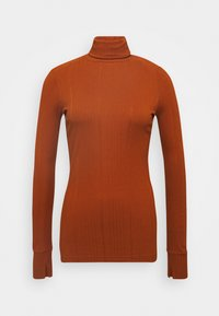 Marc O'Polo PURE - TURTLENECK  LONGSLEEVE FITTED IRREGULAR STRUCTURE - Long sleeved top - bricklane - 0