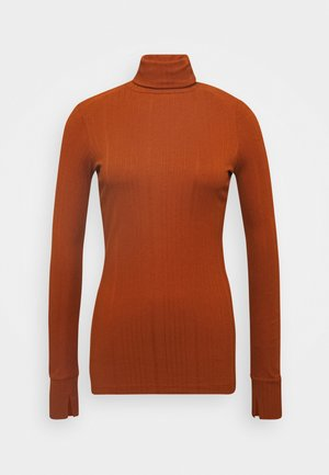 TURTLENECK  LONGSLEEVE FITTED IRREGULAR STRUCTURE - Long sleeved top - bricklane