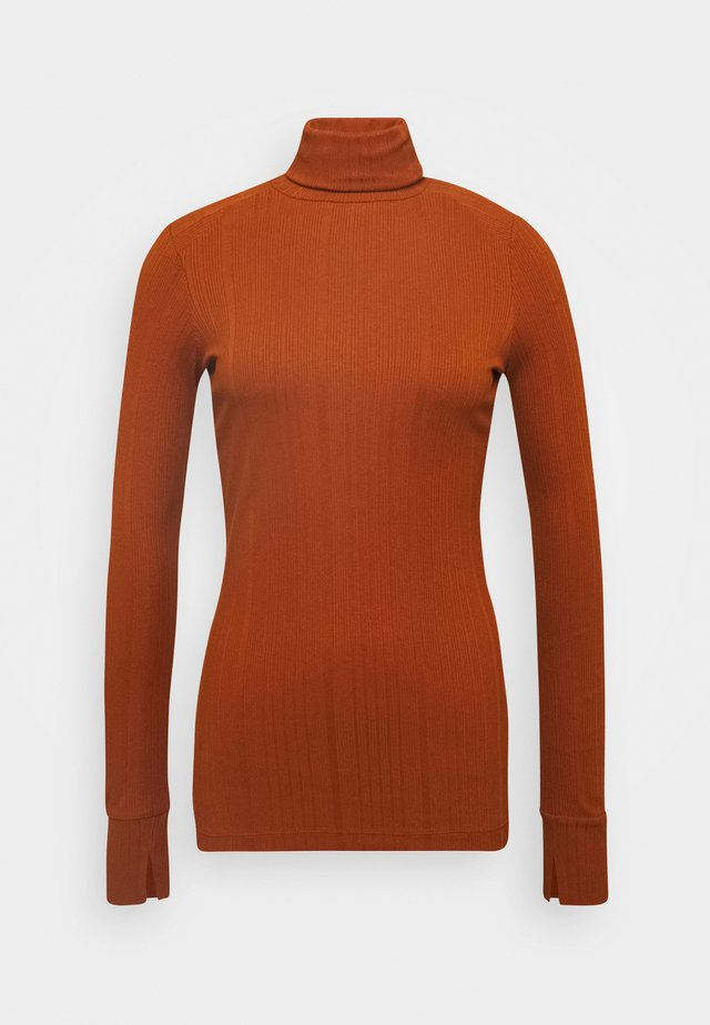 TURTLENECK  LONGSLEEVE FITTED IRREGULAR STRUCTURE - T-shirt à manches longues - bricklane