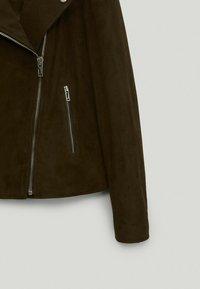 Massimo Dutti - Leather jacket - green - 4