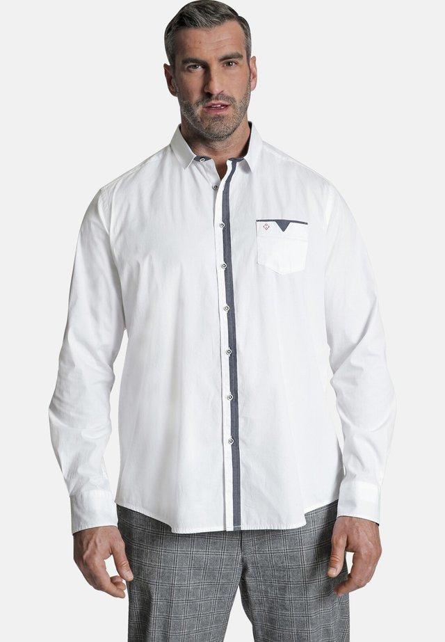 DUKE LEIGH - Overhemd - weiß