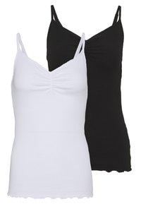 PCARLENE STRAP 2 PACK - Débardeur - black/white