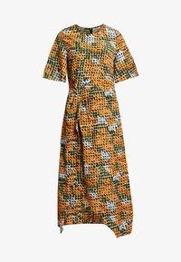 Day dress - orange green geometric