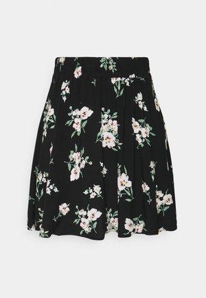 VMSIMPLY EASY SKATER SKIRT - Mini skirt - black/sandy