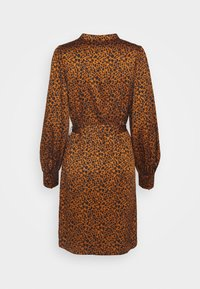 Scotch & Soda - PRINTED DRESS WITH WAIST TIE AND VOLUMINOUS SLEEVE - Denní šaty - combo - 1