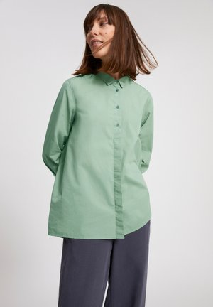 BLANCAA - Button-down blouse - sage green