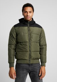Only & Sons - ONSBOSTON QUILTED BLOCK HOOD - Giacca invernale - forest night - 0